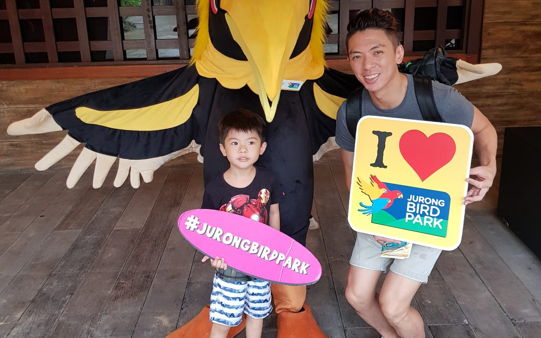A visit to Jurong bird park – fun and wet :)